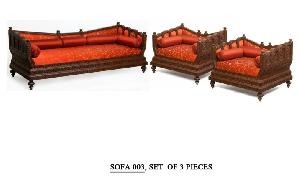 Wooden Carving Sofa Set 05