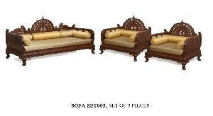 Wooden Carving Sofa Set 06