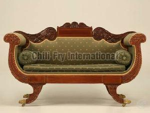 Chilifry Eagle Wings Love Seat, Sofa,Couch Sheesham wood made with Natural Finish for Home Decor