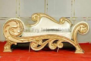 Carved 3 Seater Sofa cum Couch in Sheesham Wood