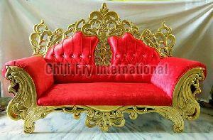 Golden crown fully carved Sofa