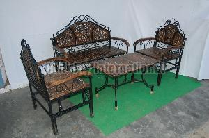 Iron Sofa Set with Table