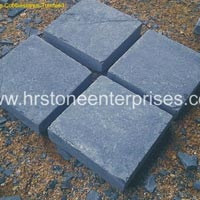 Tumbled Black Limestone