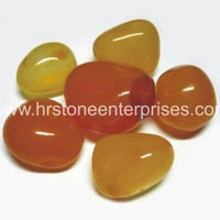 Yellow Onyx Pebble Stone