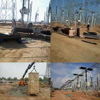 Switchyard Equipment Panel Erection