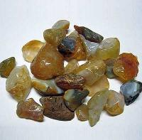 Yellow Agate Pebble Chips Stones