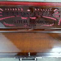 Portable 3 Line 9 Scale  Harmonium With Coupler - 1