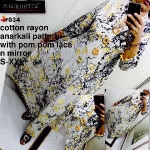 034 Pure Cotton Kurti
