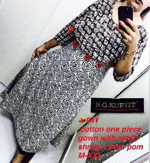 041 Pure Cotton Kurti