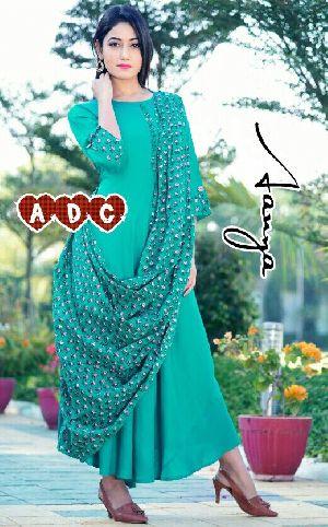Green Designer Kurti