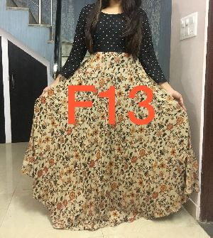F13 Floral Long Gown