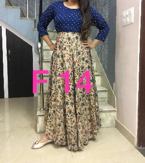 F14 Floral Long Gown