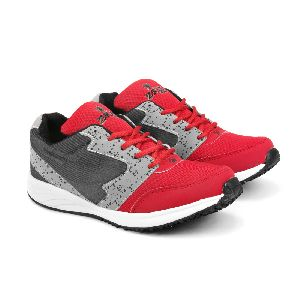 8004 ZRIX Mens Grey & Red Shoes