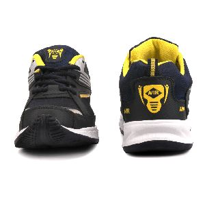 Mens Navy Blue & Yellow Shoes 01