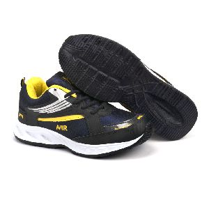 Mens Navy Blue & Yellow Shoes 03