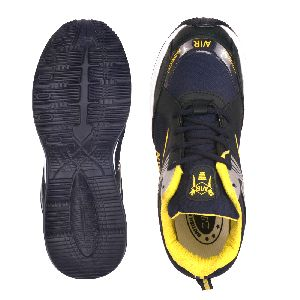 Mens Navy Blue & Yellow Shoes 04