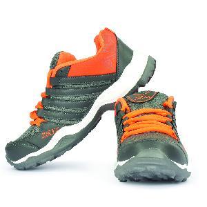Mens Grey & Orange Shoes 03