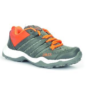 Mens Grey & Orange Shoes 05