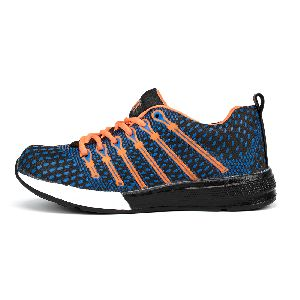 Mens Navy Blue & Orange Shoes 01