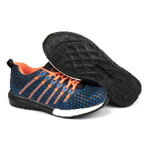 Mens Navy Blue & Orange Shoes 02