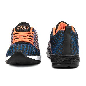 Mens Navy Blue & Orange Shoes 03