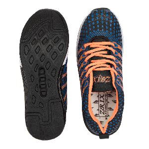 Mens Navy Blue & Orange Shoes 04