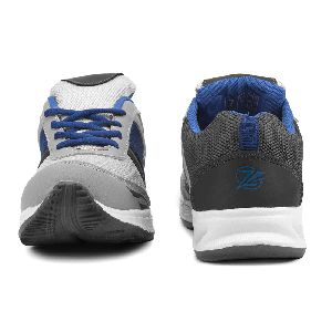 Mens Grey & Royal Blue Shoes 02