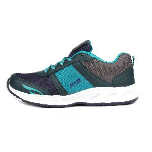 Mens Navy Blue & Sea Green Shoes 01