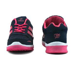 Ladies Navy Blue & Pink Shoes 02