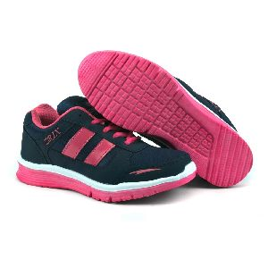 Ladies Navy Blue & Pink Shoes 04