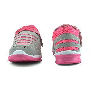 Ladies Grey & Pink Shoes 02
