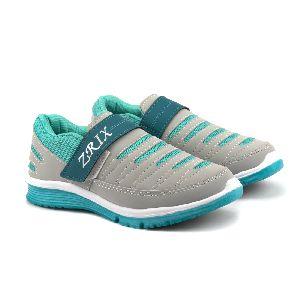 Ladies Grey & Sea Shoes 01