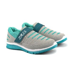 Ladies Grey & Sea Shoes