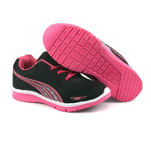 Ladies Black & Pink Shoes 04