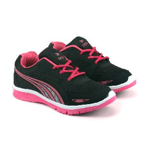 Ladies Black & Pink Shoes