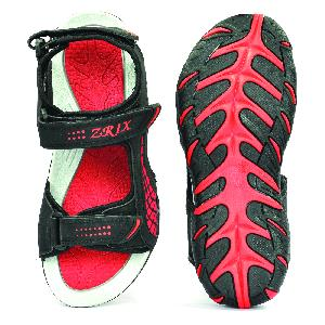 SDZ 101 Mens Black & Red Sandals 05