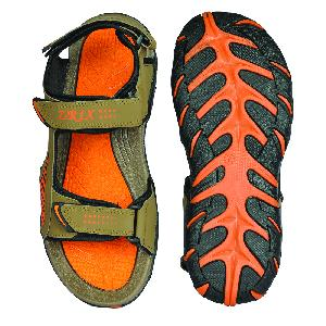SDZ 101 Mens Mouse & Orange Sandals 03
