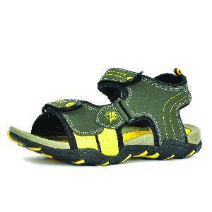SDZ 102 Mens Mehndi & Yellow Sandals 02