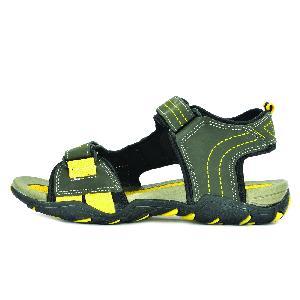 SDZ 102 Mens Mehndi & Yellow Sandals 04