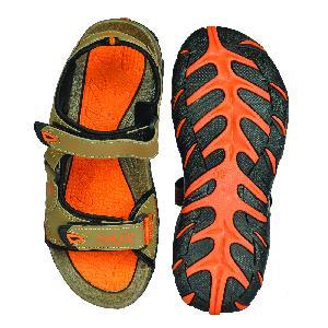 SDZ 102 Mens Mouse & Orange Sandals 04