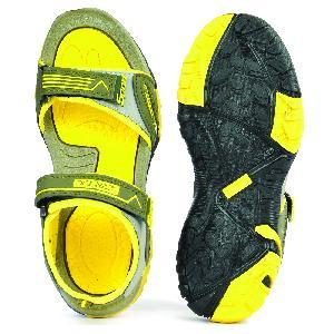 SDZ 112 Mens Mehndi & Yellow Sandals 01
