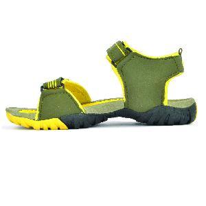 SDZ 112 Mens Mehndi & Yellow Sandals 02