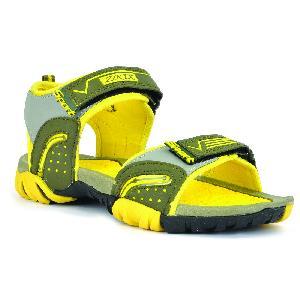 SDZ 112 Mens Mehndi & Yellow Sandals 03