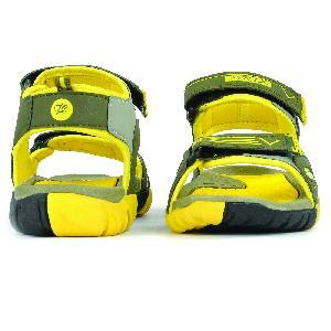 SDZ 110 Mens Mehndi & Yellow Sandals 04