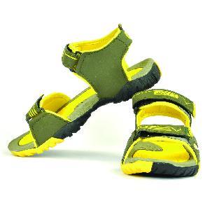SDZ 110 Mens Mehndi & Yellow Sandals 05