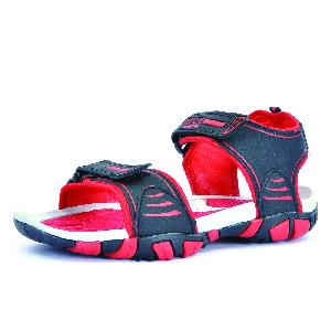 SDZ 113 Mens Black & Red Sandals 01