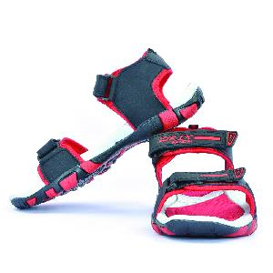 SDZ 113 Mens Black & Red Sandals 04