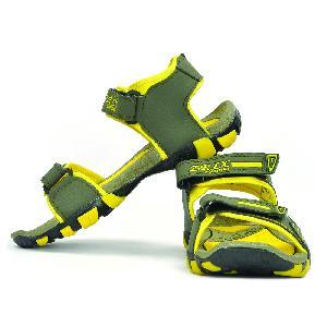 SDZ 113 Mens Mehndi & Yellow Sandals 02