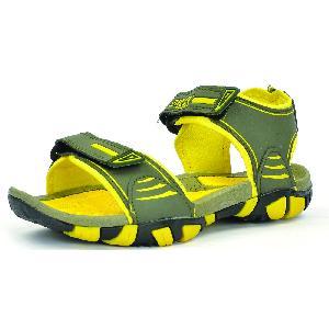 SDZ 113 Mens Mehndi & Yellow Sandals 06