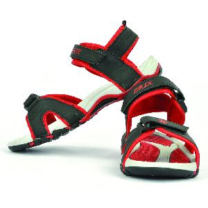 SDZ 116 Mens Black & Red Sandals 03